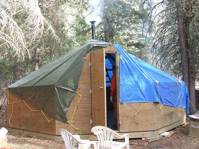 Wild Ice Shelters : Winter shelters bushcraft usa forums