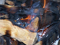 The Fire Gets Hotter And At 450 Centigrade, The Carbon Left Behind By The  Pyrolysis Starts To Burn. The Wood Goes Through Three Stages Burning